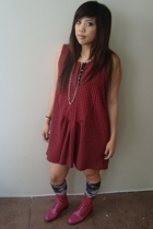 Urban Outfitters dress - tyedye F21 socks - flea market boots