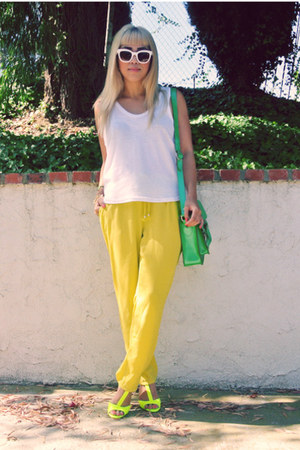 t by alexander wang shirt - Celine sunglasses - H&M pants - Zara heels