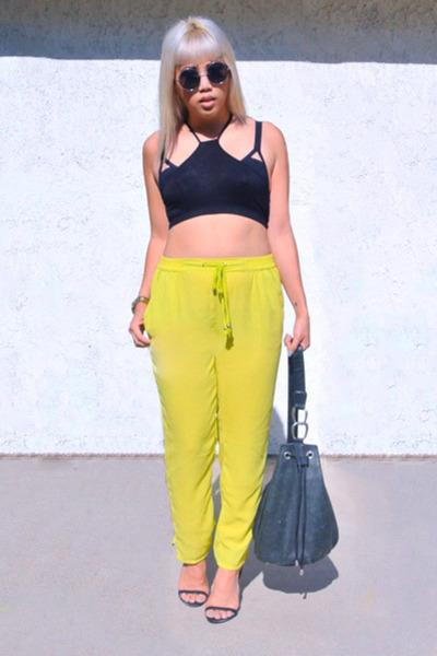 H&M bra - OASAP shirt - vintage bag - Zara heels - H&M pants