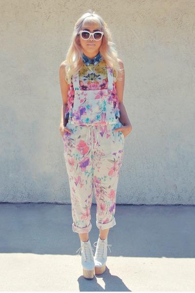 asos romper - Celine sunglasses - H&M blouse