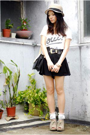 beige from jp hat - black sugarhill boutique shorts - silver from jp socks