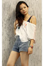 White-insight-t-shirt-blue-topshop-vest-blue-18th-amendment-shorts-brown-c