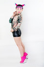 Black-h-m-shorts-light-pink-sheinside-jacket-black-forever21-top