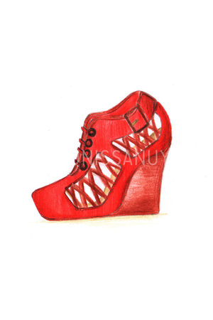red antidote shoes - brown antidote shoes