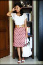 white Mode-5com blouse - Details - white Metro bag - white Yongki - brown TC bel