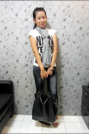 silver bangles silver Forever 21 bracelet - black Ebay leggings