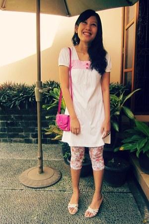 hot pink Roxy Quiksilver bag - pink lace leggings Ebay leggings