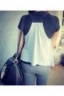 Black-ciciero-bag-silver-payless-flats