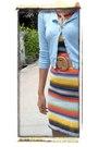 Vintage-dress-blue-a-gift-beige-tc-belt-yellow-vincci-charm-factory-bl