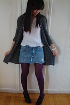 cotton on jacket - abercrombie & fitch shirt - abercrombie & fitch skirt - tight