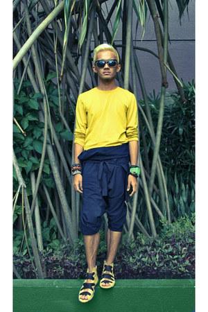 Mental sweatshirt - wrap-over Yves Identify romper - allana flats Gold Dot Cebu