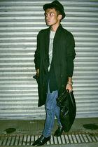black Esprit cardigan - black ING jacket - blue Jag jeans - black City Golf shoe