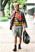 yellow zigzag SIMON Apparel shirt