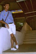 hat - liz claiborne shirt - Ralph Lauren shorts - Onesimus belt