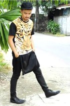 light orange The Chillout Project Cebu shirt - black derbies Rajo Milanos shoes