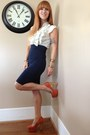 Orange-shoe-republica-la-pumps-navy-pencil-salvation-army-skirt