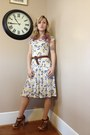 Brown-braided-calvin-klein-belt-white-floral-print-hand-me-down-dress
