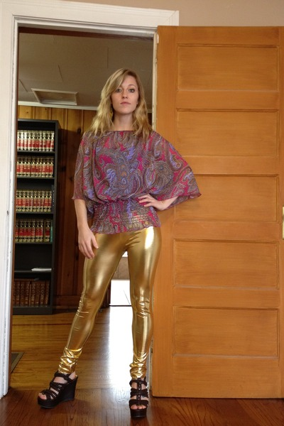 Gold Boots For Girls Gold Put-a-girl-in-it Leggings