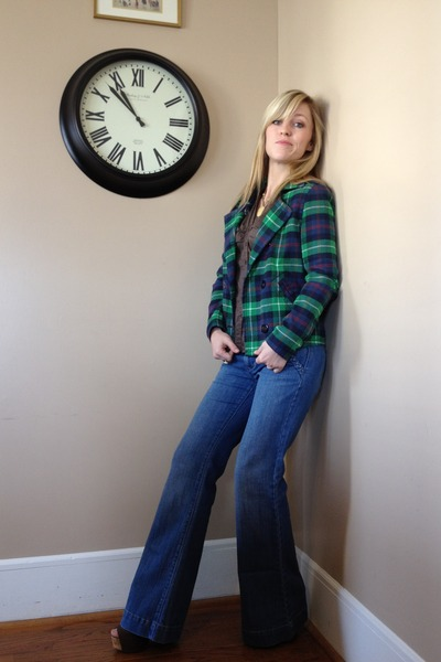 Green Plaid Jackets Blue Old Navy Jeans Brown New York Company