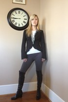 black wedge franco sarto boots - charcoal gray capri Walmart leggings