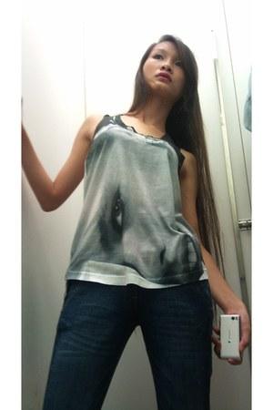skinny jeans Zara jeans - tank top Zara top