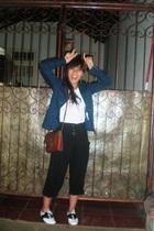 t-shirt - XDYE blazer - Topshop pants - purse - in her shoes shoes