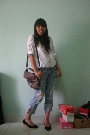 shirt - Secondhand jeans - Ananas shoes - vintage