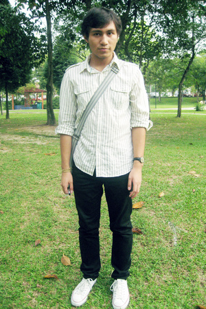 Topman shirt - Black or Love pants - Topman purse - Converse shoes