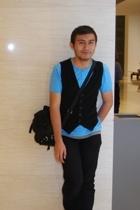 Mini Me vest - Topman t-shirt - Topman t-shirt - black jeans