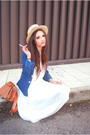 Blue-h-m-jacket-white-uterque-dress