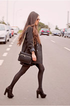 black La Strada heels - Zara bag