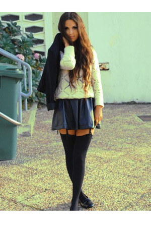 Zara skirt - Zara cardigan - H&M socks