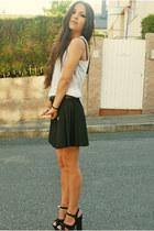black Zara skirt - white H&M t-shirt - Ebay sandals