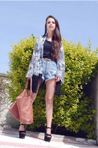 Ebay sandals - Sugarlips jacket - Dayaday bag - Oysho shorts