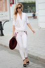 White-jeans-crimson-h-m-hat-white-sheinside-blouse-black-sandals