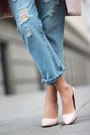 Light-pink-choies-coat-sky-blue-ripped-jeans-banggood-jeans