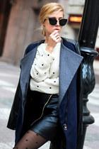 black infiniteen skirt - navy Gido boots - navy BangGood coat