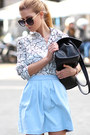 White-choies-shirt-black-choies-sunglasses-light-blue-skirt-black-flats