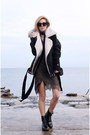 Black-parfois-boots-army-green-dress-black-shein-jacket