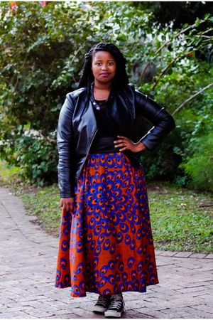 carrot orange maxi skirt skirt - blue maxi skirt skirt - black jacket