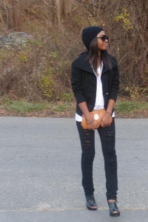liz claiborne purse - black Ralph Lauren hat