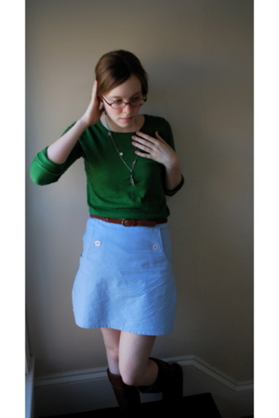 madewell shirt - Urban Outfitters skirt - found in the attic necklace - Urban Ou