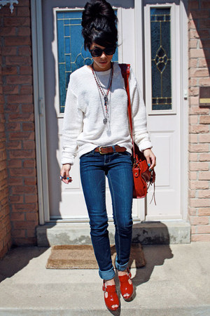 cutout  suede Topshop shoes - denim Joes Jeans jeans - American Apparel sweater