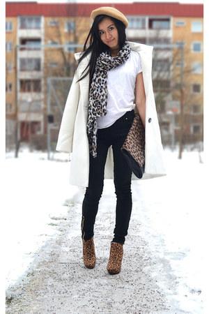 dark khaki beige hat H&M hat - brown deichman boots