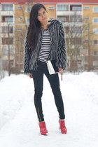 red ankle boots untitled boots - black skinny jeans lager 157 pants