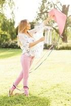 Lauren Conrad blouse - DKNY jeans