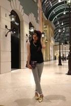 crimson mens hat H&M hat - mustard flats Payless shoes - black stripes H&M pants
