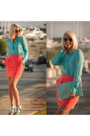 asos bag - Zara skirt - ray-ban glasses