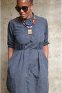Navy-a-line-dress-the-gap-dress-my-peace-of-jewelry-necklace