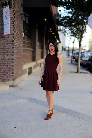 burnt orange ankle boots Schutz boots - brick red t by alexander wang dress